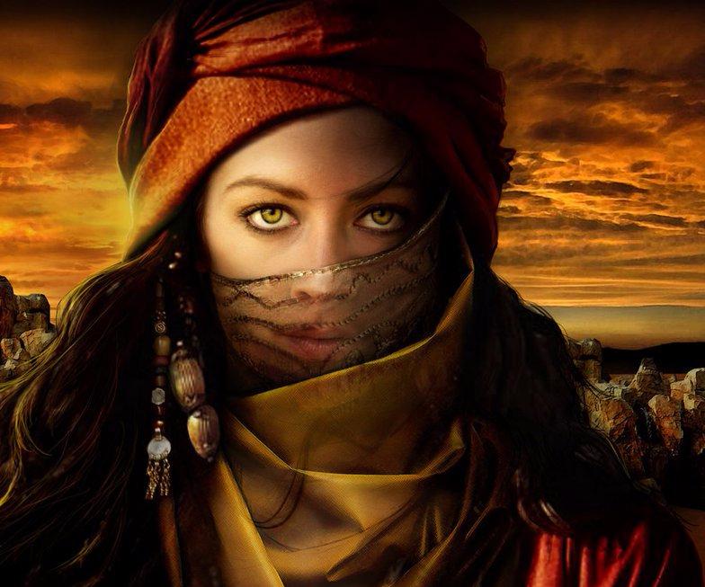 fantasy desert warrior
